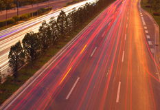 Circulation sur la route Image libre de droits