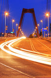 Circulation sur le willemsbridge à Rotterdam Image stock