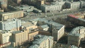 Circulation urbaine de Moscou, vue supérieure banque de vidéos