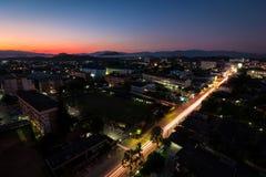 Circulation urbaine de nuit Image libre de droits