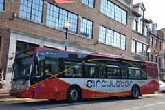 Circulator bus, Washington, DC Stock Image
