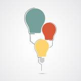 Circule el fondo del asunto de la idea de la tecnología del bulbo Stock de ilustración