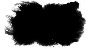Circuler éclaboussant à l'encre noire de pinceau de forme abstraite de course et laver sur le fond blanc, éclaboussure artistique illustration stock