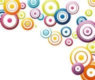 Circuler coloré de cercles d'arc-en-ciel illustration stock