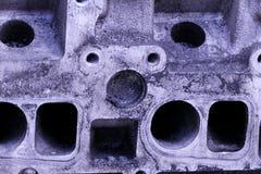 Circulez en voiture rouille grunge grise d'industrie d'aluminium de fer d'abrégé sur structure de texture en métal de maschine de photo stock