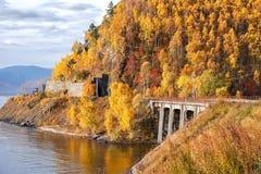 Circum-Baikal-Eisenbahn Lizenzfreie Stockfotografie