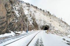 Circum-Baikal järnväg fotografering för bildbyråer