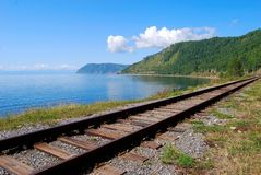 Circum-Baikal railroad Royalty Free Stock Photography