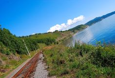 Circum-Baikal railroad Stock Image