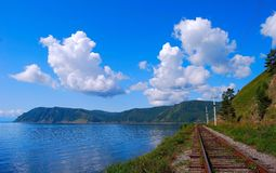 Circum-Baikal railroad Royalty Free Stock Image