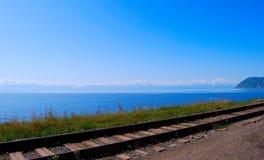 Circum-Baikal railroad Royalty Free Stock Image
