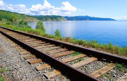 Circum-Baikal railroad Royalty Free Stock Photo