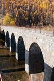 The Circum-Baikal Railway. Historical railway runs along Lake baikal in Irkutsk region of Russia Stock Images