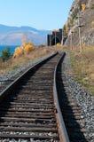 The Circum-Baikal Railway. Historical railway runs along Lake baikal in Irkutsk region of Russia Stock Photography