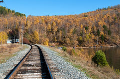 The Circum-Baikal Railway Stock Image