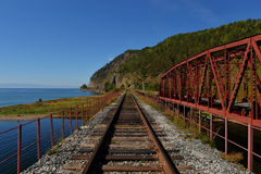 The Circum-Baikal Railway Bridge Stock Photos