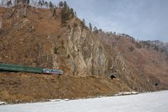 The Circum-Baikal Railway in March, 2009 Royalty Free Stock Photography