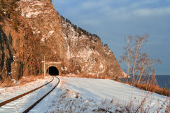 Circum-Baikal railway tunnel Stock Image
