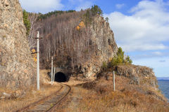 Circum-Baikal railway tunnel Royalty Free Stock Photography