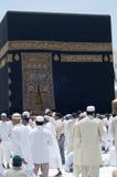 circumambulate kaaba pielgrzymów obraz royalty free