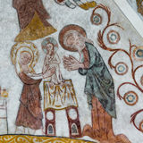 Circumcision of christ, Wall-painting Royalty Free Stock Images