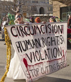 Circumcision And Human Rights Sign Stock Photos