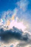 Circumhorizontal arc. Close up circumhorizontal arc and clouds Stock Images