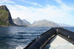 Circumnavigating djupfjord Royalty Free Stock Images