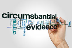 Circumstantial evidence word cloud. Concept Royalty Free Stock Photography
