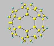 Circumtrindene molekyl som isoleras på grå färger Fotografering för Bildbyråer