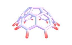 Circumtrindene molekyl som isoleras på vit Fotografering för Bildbyråer