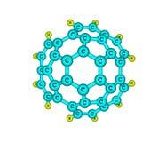 Circumtrindene molekyl som isoleras på vit Arkivfoto