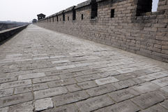 Circumvallation. Ancient city Pingyao in China royalty free stock image