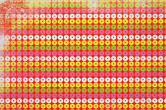Circunda o teste padrão colorido Fotos de Stock Royalty Free