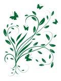Circundando as folhas e as borboletas Fotos de Stock