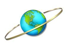 Circundar el globo Imágenes de archivo libres de regalías