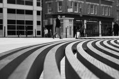 Circunde Banco-algún grano Imagenes de archivo