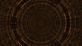 Circunde com a grade, ciência abstrata do negócio ou o fundo da informática, 3d rende contexto, gerado por computador ilustração royalty free
