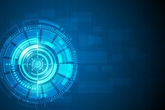Circunde el backgr abstracto azul del vector del concepto de la innovación de la tecnología libre illustration