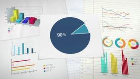 Circunde el diagrama para la presentación, gráfico de sectores indicó el 90 por ciento stock de ilustración