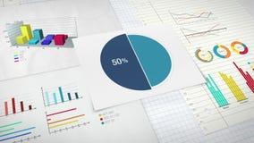 Circunde el diagrama para la presentación, gráfico de sectores indicó el 50 por ciento Ver 2 stock de ilustración