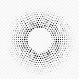 Circunde el fondo mínimo blanco punteado geométrico de semitono de la textura del extracto del vector del modelo de la pendiente libre illustration