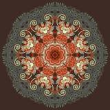 Circunde el ornamento, cordón redondo ornamental Imagenes de archivo