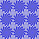 Circunde a ilusão ótica, efeitos do redemoinho com as formas concêntricas misturadas para dentro Projeto gráfico Ilustração do ve Fotos de Stock Royalty Free