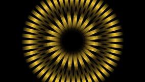 Circunde los colores izquierdos y derechos, de enfoques y cambiantes de la rotación de los elementos metálicos Fondo video abstra ilustración del vector