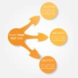 Circunde o conceito do negócio com os círculos e as setas simples fotografia de stock