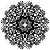 Circunde o ornamento, laço redondo decorativo Imagem de Stock
