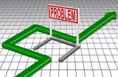 Circunde o problema ilustração stock