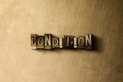 CIRCUNSTÂNCIA - close-up vintage sujo da palavra typeset no contexto do metal fotos de stock