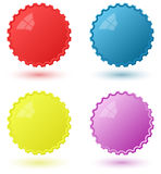 Set of Circural Icons Pseudo 3D Templates Stock Photography